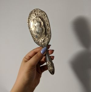 Vintage silver hair brush